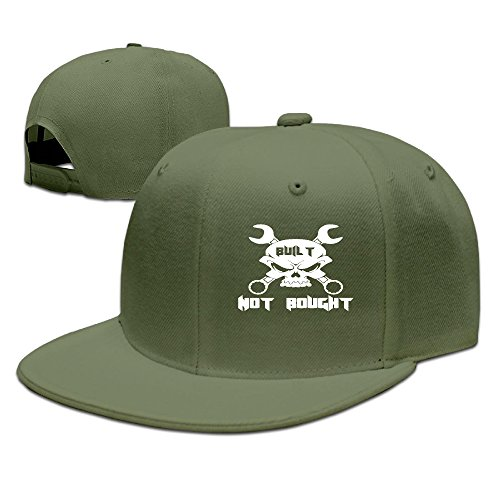 lalayton-unisex-built-not-bought-funny-pure-cotton-child-baseball-cap-forestgreen