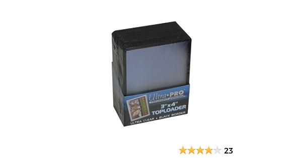 Bundle of 4 Packs UltraPro 3 X 4 Black Border Toploader 25ct Pack 81158