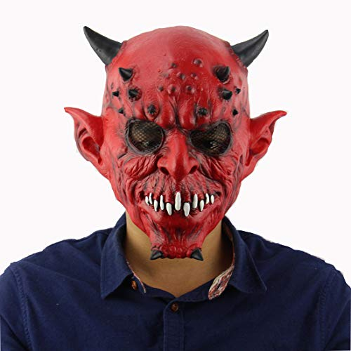 AHDA Hell Devil, Horns, Halloween, Bar Dance, Terrorist Latex Mask ()
