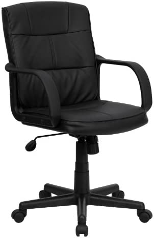 Flash Furniture Mid-Back Black LeatherSoft Swivel Task Office Chair