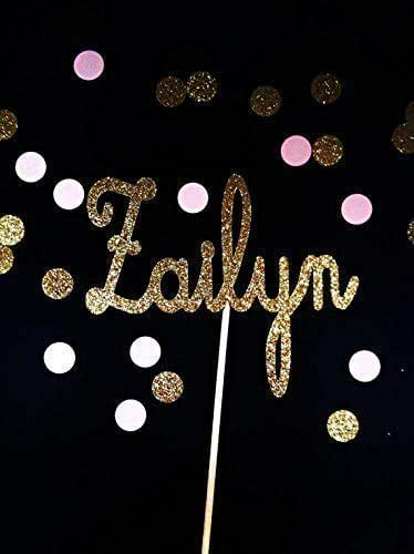 Amazon.com: Glitter Name Cake Topper made in name of your