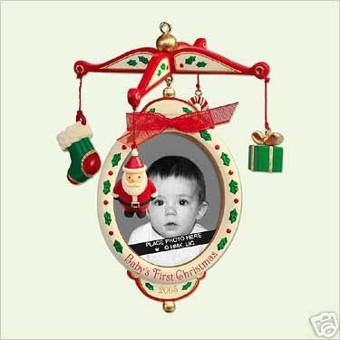 2005 Hallmark Keepsake Christmas Ornament BABY'S FIRST 1st CHRISTMAS Photo Holder QXG4622 Babys First Christmas Photo Holder