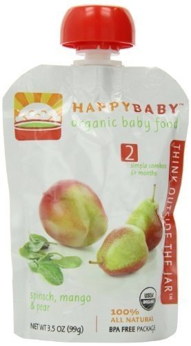 HAPPYBABY Organic Baby Stage Spinach