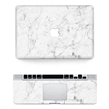 """Vati Leaves Removable White marble Protective Full Cover Vinyl Art Skin Decal Sticker Cover for Apple MacBook Pro Retina 13.3"""" inch (A1425/A1502)"""