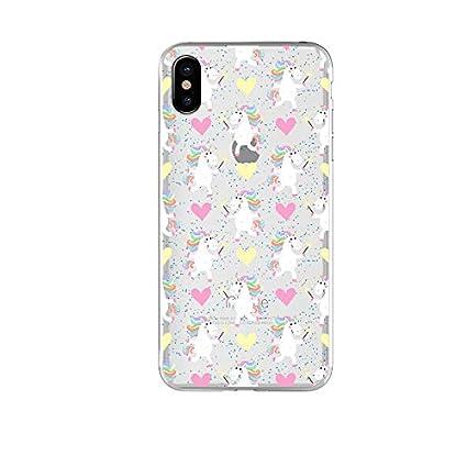 Cute Unicorn iPhone XS Max Clear Case