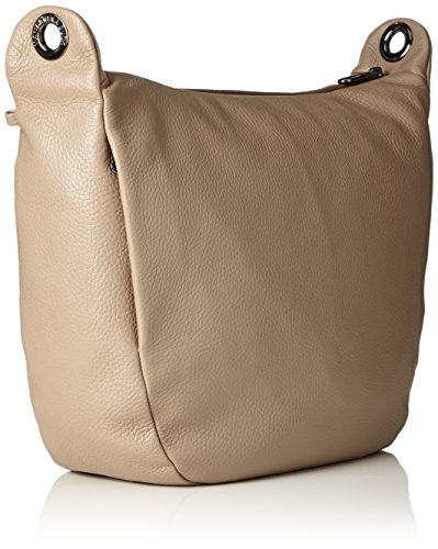 Taupe Beige Mellow Leather Duck bandoulière Simply Tracolla Mandarina sac q8vx6n