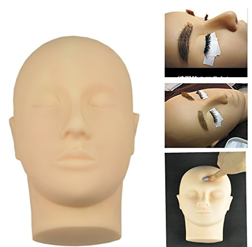 Rubber Practice Mannequin Manikin Head Eyelashes Makeup Massage Practice