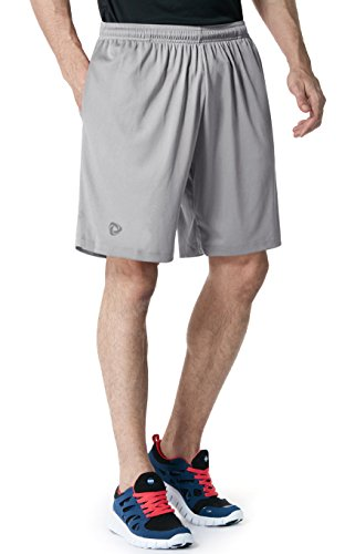 CLSL TM-CMBS01-STL_Large Tesla Men's Mesh Shorts Sports Performance HyperDri II With Pockets CMBS01