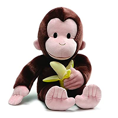 "GUND 4061282 Curious George with Banana Plush Stuffed Animal, 20"", Brown"