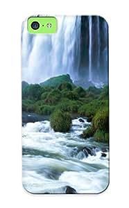 Blackducks Anti-scratch And Shatterproof Iguassu Falls, Brazil Phone Case For Iphone 5c/ High Quality Tpu Case