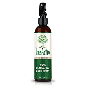 2. TreeActiv Acne Eliminating Body Spray, Salicylic Acid, Tea Tree, Aloe, 8 fl oz.