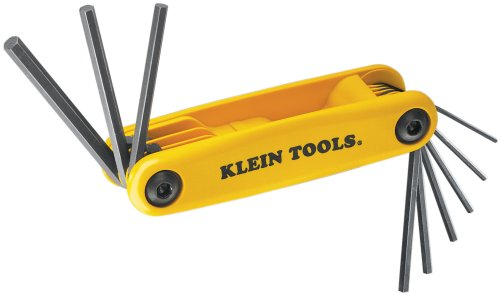 Klein Tools 70575 9 Inch Sizes Grip-It Hex-Set,Black/Yellow,Small