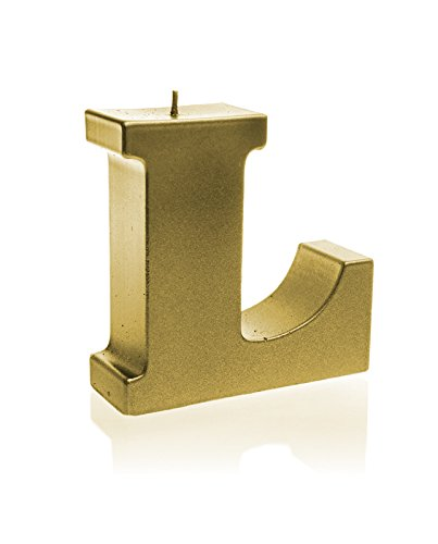 Candellana Candles 5902841363427 Giant Letter L Candles, Classic Gold by Candellana Candles