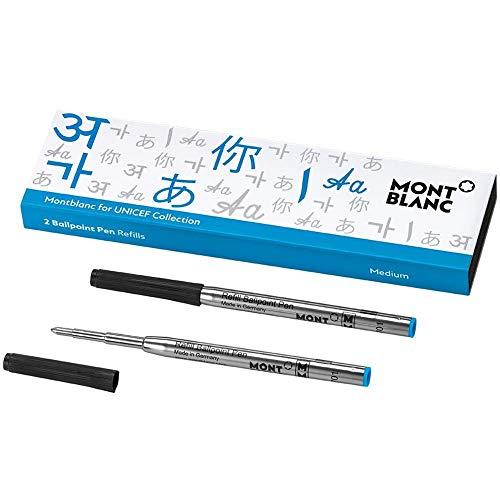 Montblanc, unicef   Blue, 116220, Ballpoint Pen Replacement Refill, M/2 Ballpoint Refill, Blue