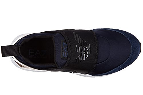 Emporio Armani EA7 Damen Mokassins Slip On Sneakers fashion style blu