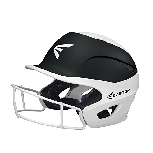EASTON PROWESS Fastpitch Softball Batting Helmet with Mask | S / M | Matte White Black | 2019 | Multi-Density Impact Absorption Foam | High Impact Resistant Lightweight Shell | BioDRI Liner