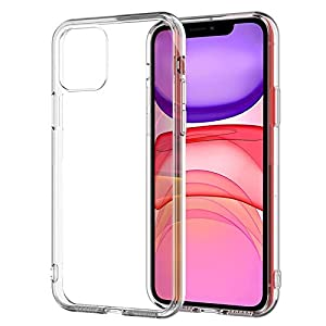 Amazon Brand – Solimo Back Cover for Apple iPhone 11 (Flexible|TPU|Transparent)