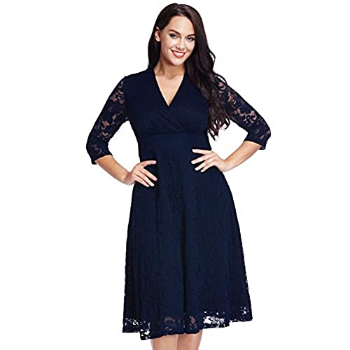 Blue Plus Size Dress Amazon