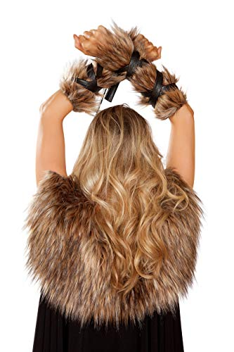 Roma Womens Viking Cuffs Adult Costume Accessory Brown
