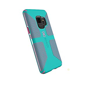 Speck Products Compatible Phone Case for Samsung Galaxy S9, Candyshell Grip Case, Caribbean Blue/Bubblegum Pink