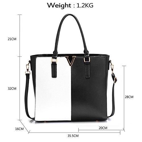 Faux Body Woman Bag Hand Bag Xardi Leather Cross Great London Black White Ladies School Bag Shoulder XvwxCTAqnC