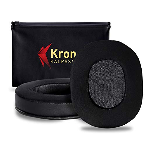 Krone Kalpasmos Upgraded Cooling-Gel Ear Pads for Turtle Beach Stealth Headphones, Compatible with ATH M-Series/HyperX/Sennheiser/Sony(Full List Inside)Many Other Large Over Ear Headset Cups Cushions