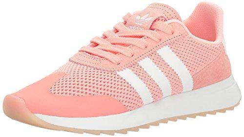 Adidas Womens Flashback W Fashion Sneaker Haze Coral White / Haze Coral S
