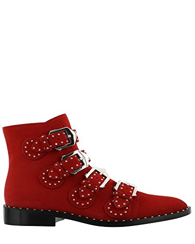Givenchy Women's Be08143124600 Red Suede Ankle - Red Givenchy