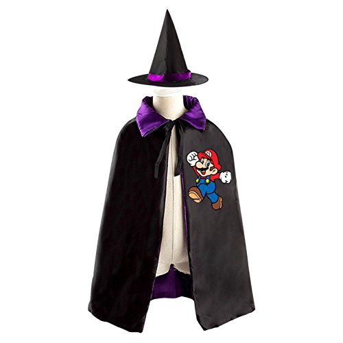 Costume Birdo (Super Mario Children's Halloween Costumer Cape and Wizard Hat Cap)