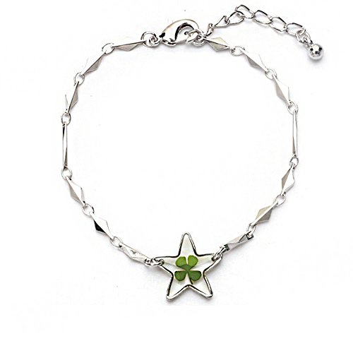 stainless-steel-real-irish-four-leaf-clover-good-luck-symbol-clear-star-charm-bracelet-7-85