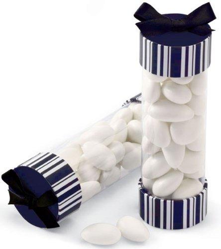 Wilton 415-0389 Black-White Stripes Favor Cylinder Kit, 20 Count ()