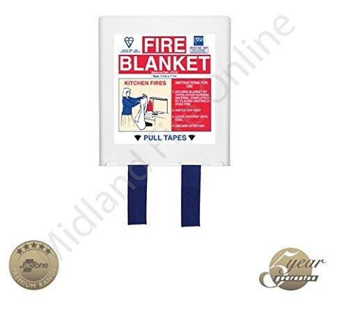 Jactone Premium - UK Manufactured - White 1.1m x 1.1m Premium Jacpack Fire Blanket - BSEN1869 by Midland Fire On-Line