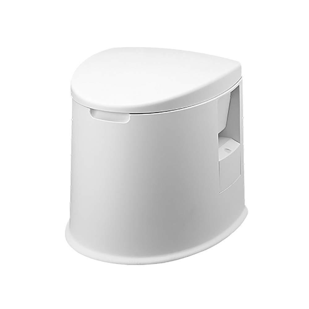JXHD Auto Tragbare Toilette - Outdoor-Multi-Funktions-Portable Mobile Design, Erwachsene äLtere Kinder Und Schwangere Frauen,Weiß