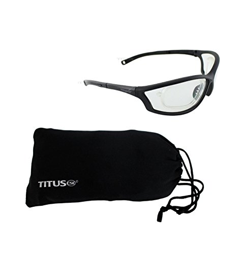 Titus G27 Rx Ready Competition Range Glasses - Sports Riders Safety Glasses (Standard, W/ - Sunglasses Insert Optical
