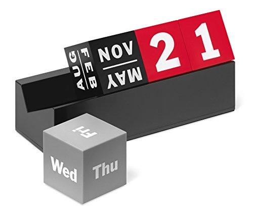 Cubes Perpetual Calendar Red/Grey/Black