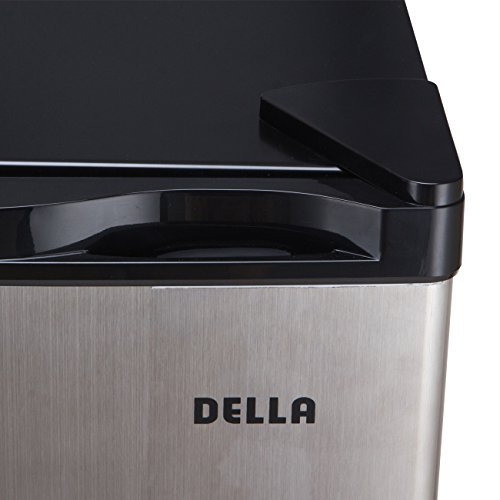Della Compact Mini Refrigerator & Freezer, 1.6 Cubic Feet, Stainless Steel by DELLA (Image #4)