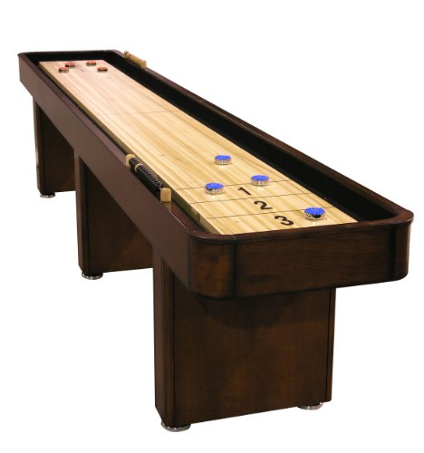(Fairview Game Rooms 12' Shuffleboard Table, in Chestnut)
