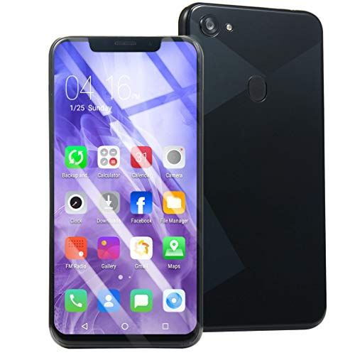 Price comparison product image Full Screen Unlocked Smartphone,  6.1 Inch Ultrathin Android Cell Phones 1GB RAM 8G ROM,  4-Core Processor Mobile Phone Finger Unlock GSM WiFi GPS 2-SIM Cellphone (Black)