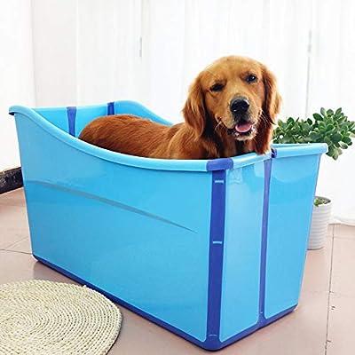 Bañera inflable portátil- Piscina Perros Gatos For Perros Grandes ...
