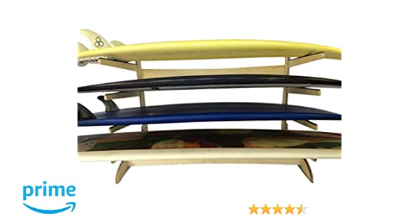 Fun Boards Steves Rack Shack Freestanding; for use Indoors and Outdoors; Made in The USA 4 Space Horizontal Surfboard Freestanding Storage Storage fror: shortboard Fish 4 Spaces