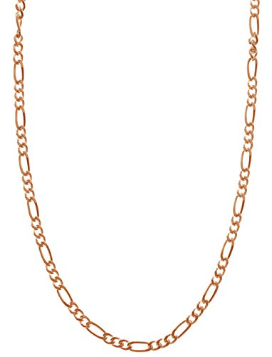 - Rose Gold Plated Sterling Silver 6 Gauge, 2.25mm Figaro Chain 30