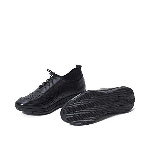 Herren Freizeitschuhe Dress Bergsteigen Herbst Outdoor Schnüren Sport Schuhe Rutschen Schwarz Oder Weiß Schwarz