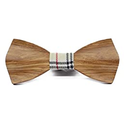 (Elegant) Solid Wooden Bow Tie for Men - Handcrafted Wood Collection with Gift Box