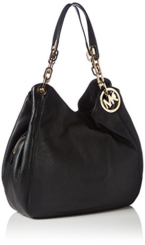 Amazon.com: Michael Kors Fulton Large Leather Shoulder Bag ...