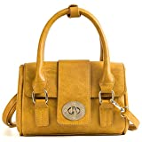 Women's PU Leather Handbags Latest Version Tote Bags Shoulder Bags(A3079-Yellow)