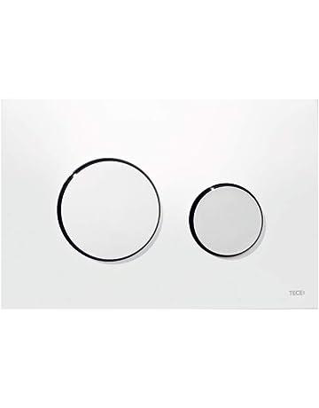 Panel dorsal 9240802 WC cuadrado de la placa de pared de cristal//cromo pulido botones