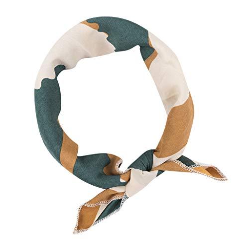 (HYIRI Lightweight Vintage Elegant Designs Silk Satin Feel Ladies Small Square Head/Neck)