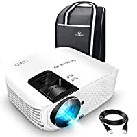 """VANKYO Leisure 510 Full HD Movie Projector with 3600 Lux, Video Projector with 200"""" Projection Size, Support 1080P HDMI VGA AV USB with Free HDMI Cable and Carrying Bag(White)"""
