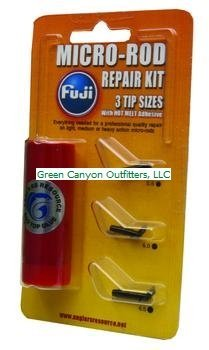 Fuji BMFRK4C Micro Rod Repair Kit with (3) Tips and Hot Melt Glue, Black Finish