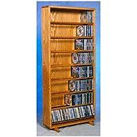 24.25 in. Dowel CD Storage Tower in Honey Oak Finish (Honey Oak)
